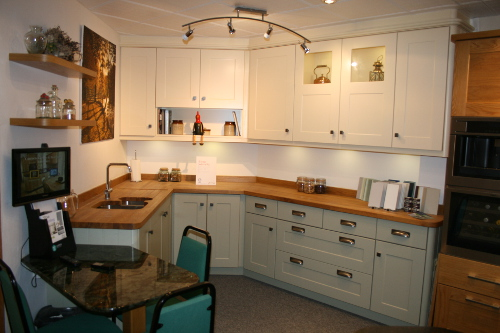 A Kitchen With Solid-Oak Worktops