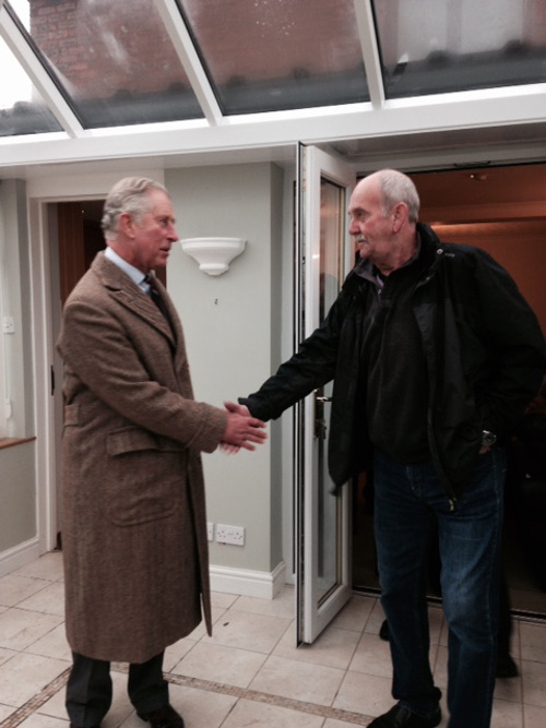 Barry Meets HRH Prince Charles Prince of Wales