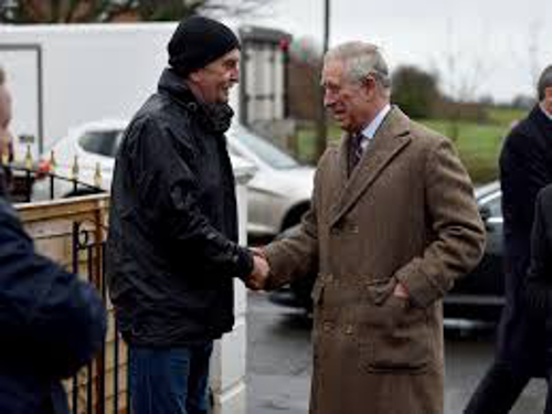 Barry Thanks HRH Prince Charles Prince of Wales