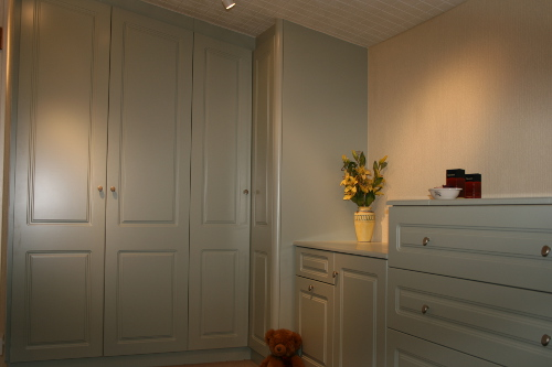 Bedroom With Raised Panel Doors