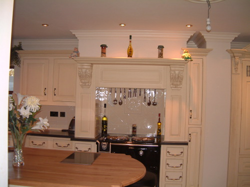 Beech Island Top With Glass Hob