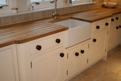 Belfast Sink With Solid Oak Worktops