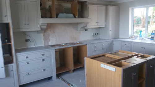 Bespoke Kitchen Mid-Installation
