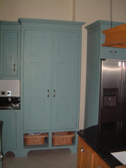 Chefs Pantry With Wicker Baskets