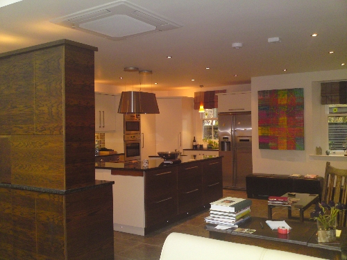 Contemporary Veneer Kitchen Burgh by Sands Near Carlisle