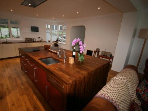 Contemporary Walnut Kitchen Troutbeck Lake Distrtict