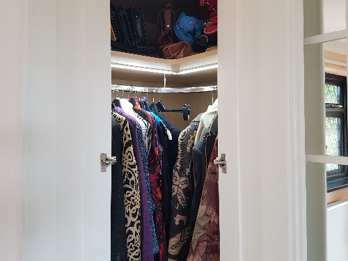 Corner Wardrobe With Continous LED Lighting