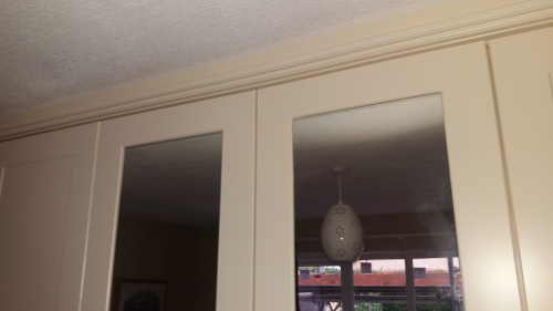 Cornice And Top Scribe Fitted To Ceiling