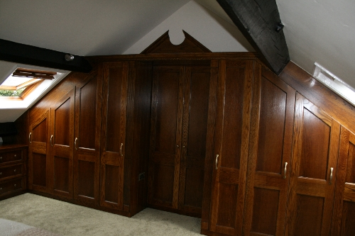 Dark Oak Bespoke Bedroom Warwick Bridge Carlisle
