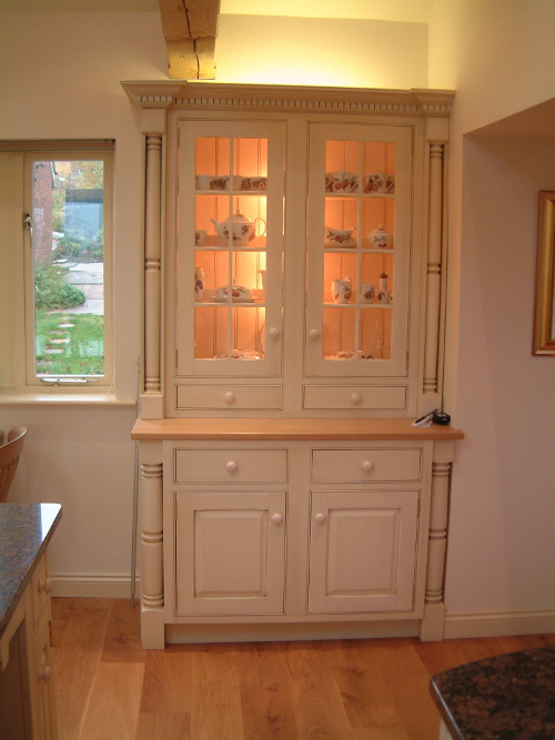 Dresser Flanked By Turned Legs