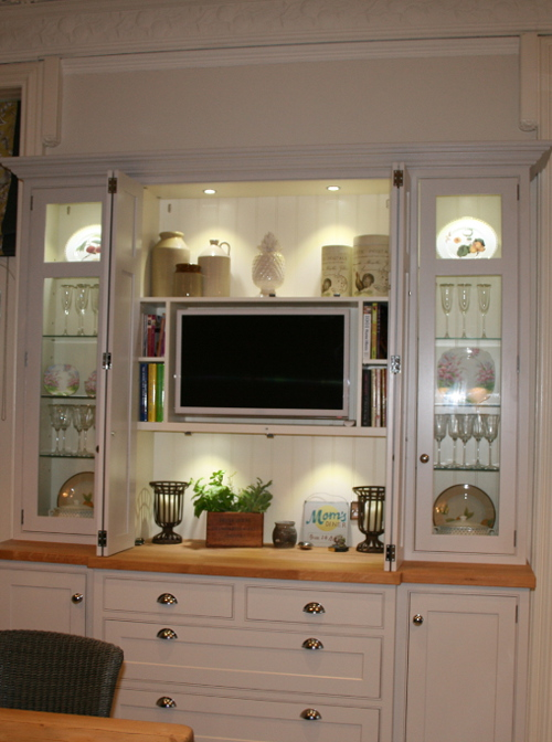 Dresser With Bi Fold Doors Open