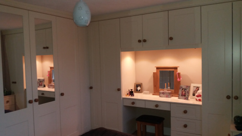 Dressing Area With LED Downlighting