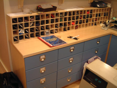 Glasses Drawers With Pigeon Holes Above