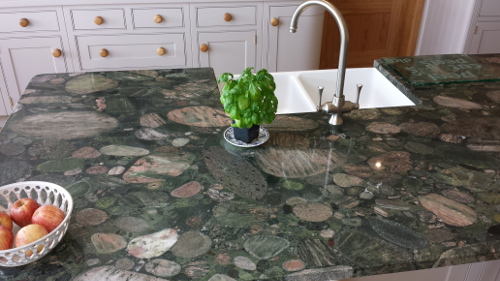 Granite Worktop With Fossils