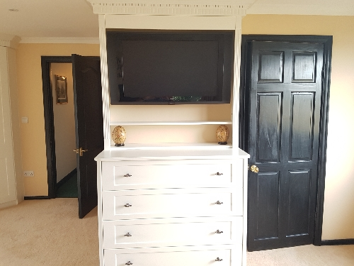 Hand Painted Bespoke TV Housing Unit