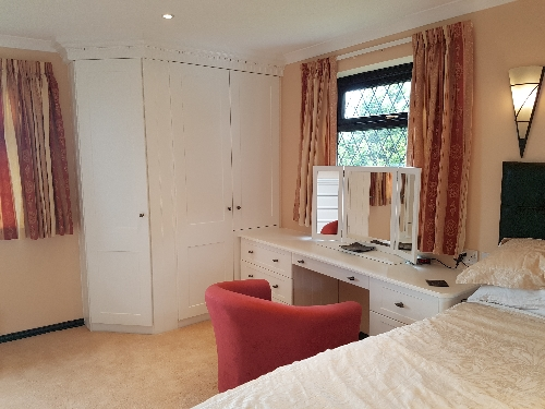 Hand Painted Wardrobes Fitted Flush To Ceiling