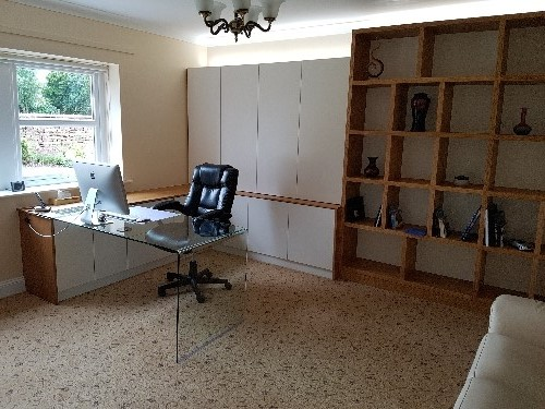 Home Office With Glass Desk