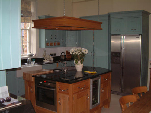 Kitchen In Ballroom Blue And Oak