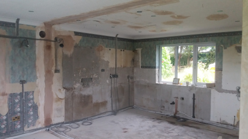 Kitchen Renovation Work Is Underway