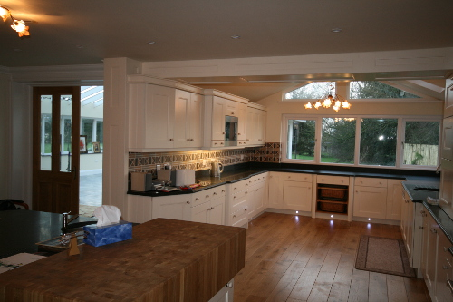 Kitchen With LED Plinth Lighting