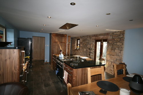 Kitchen With Solid Walnut Doors