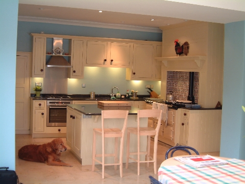 Kitchen with AGA and Island Near Barnard Castle