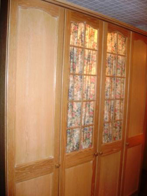 Limed Oak Bedroom Glass Doors And Curtains