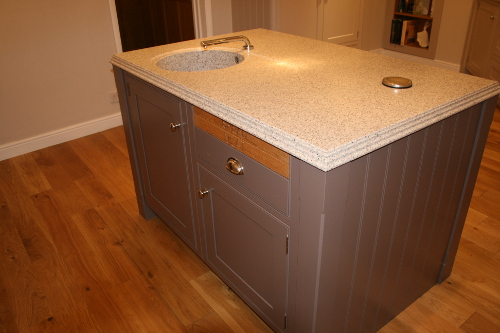 London Clay Island And Aspen Pepper Worktop