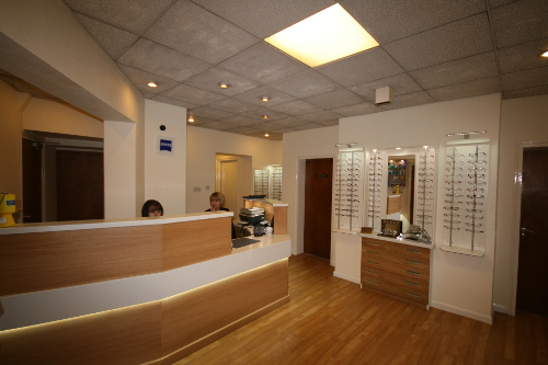Opticians Reception Desk