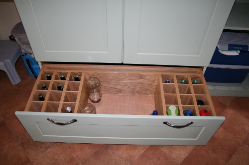 Pan Drawer With Bottle Rack