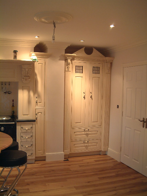 Pantry With Crown And Door Spindles