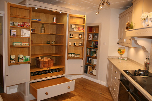 Pantry With Door Racks Wine And Pan Drawer