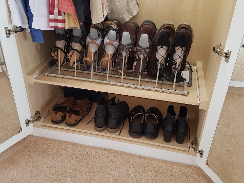 Pull Out Shoe Rack Hand Painted Wardrobe