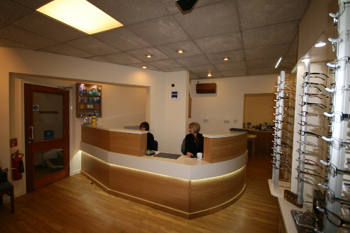 Reception Desk With Integral LED Lighting