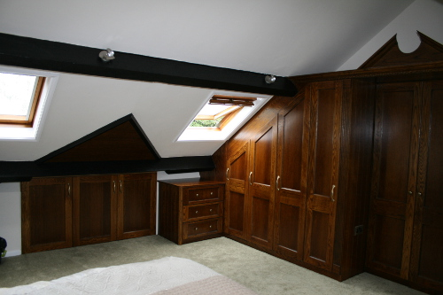 Robes Fitted To Vaulted Ceiling