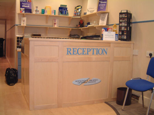 Sign Written Reception Desk