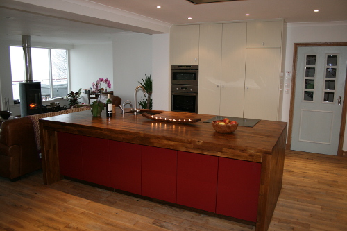 Solid Walnut Worktops 120mm Thick