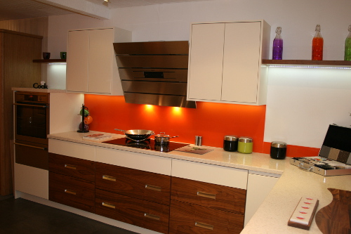 Walnut Is Often Used In Contemporary Kitchens