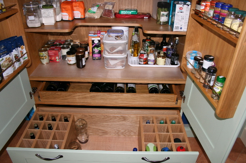 Wine Drawer Below Pantry Unit