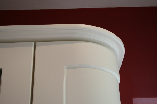 Satin Finish Curved Wall Unit